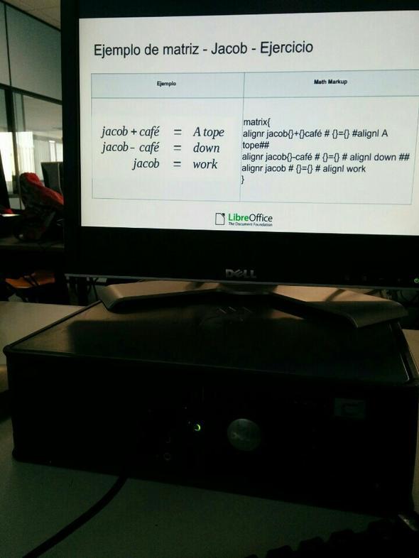 Ejemplo de Matriz - LibreOffice - Curso de formación en Tenerife - Jacob Rodríguez