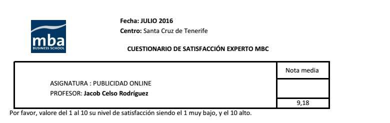 Máster Experto Marketing - MBC - Publicidad Online - Tenerife
